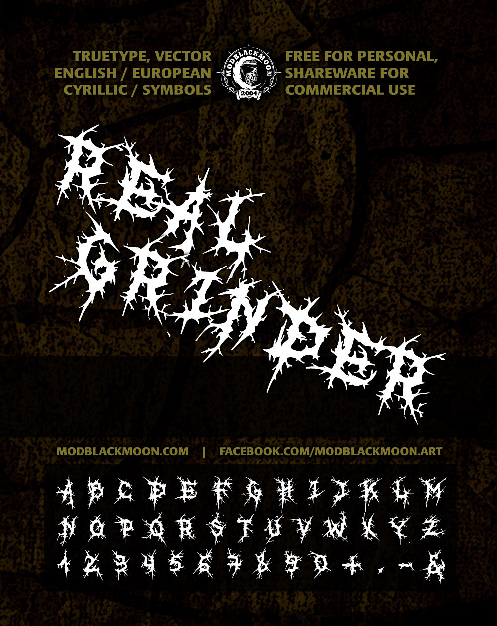 Brutal Death Metal Font Download