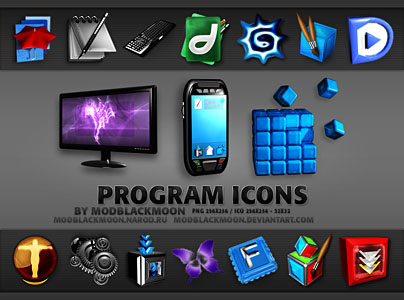 Program Icons for Desktop and Object Dock ICO PNG 256