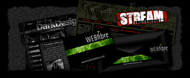 Dark Web-graphic Design, Web-design previews, portfolio by ModBlackmoon