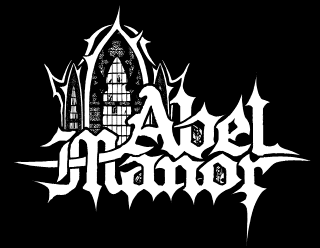 Abel Manor Vector Logo Drawing with an old gothic cathedral