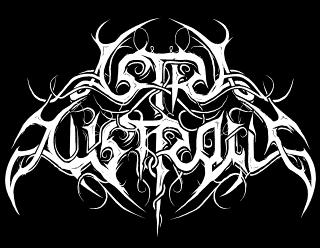 Astra Australis - Curvy Metal Band Logo Vector Design with Ornaments