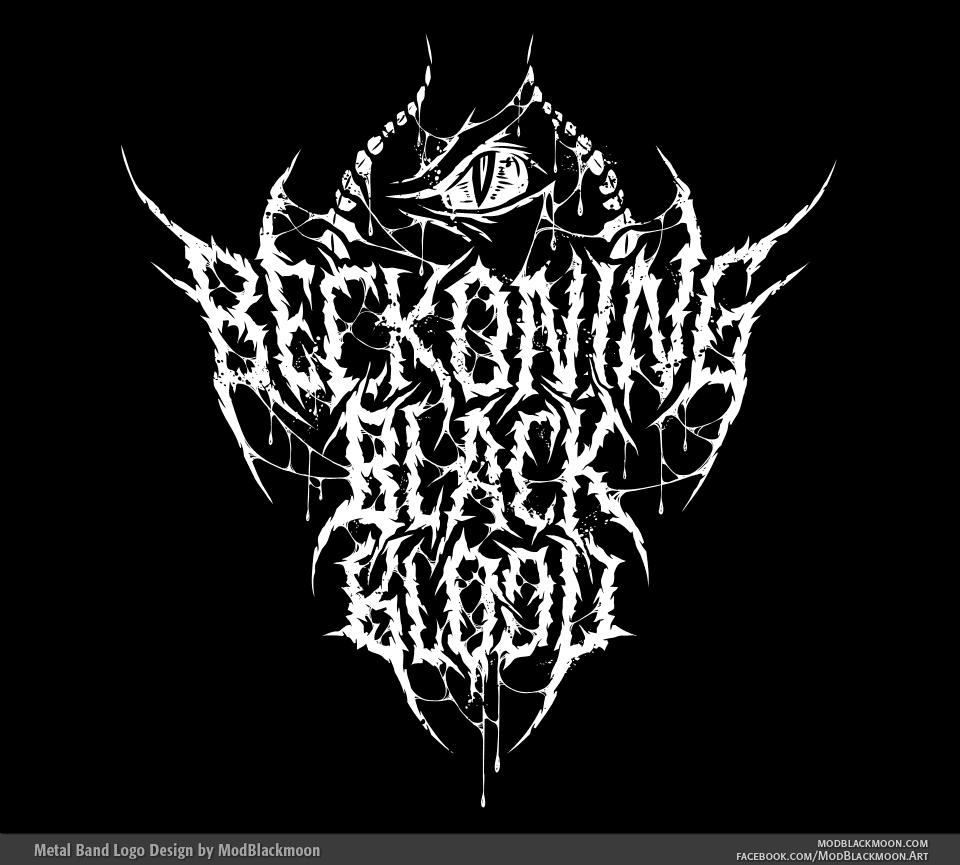 Beckoning Black Blood - Brutal Death Metal Band Logo