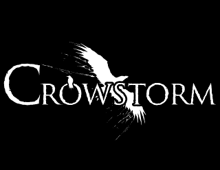 Crowstorm - Heavy Metal logo design with raven