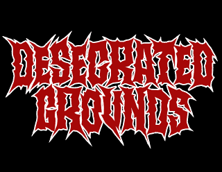 Desecrated Grounds - Simple Jagged Death Metal Band Logo Design