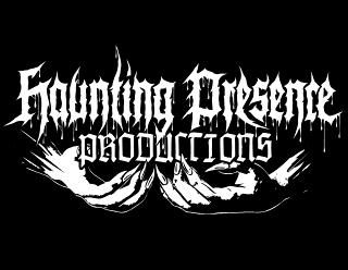 Haunting Presence Productions - Metal Label Logo Design with Hands and Claws