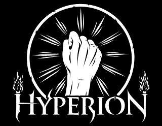 Hyperion - Legible Traditional Metal Band Logo Design with Fist Symbol