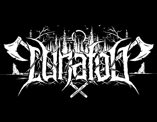 Lunafog - Pagan Black Metal Logo Artwork with Axes and Full Moon