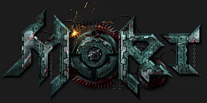 Mort - Logo Design for Estonian Sci-Fi Horror Magazine with Saw Blade, Futuristic Panels