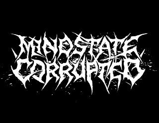 Mindstate Corrupted - Metalcore, Deathcore Band Logo Design with Splatter