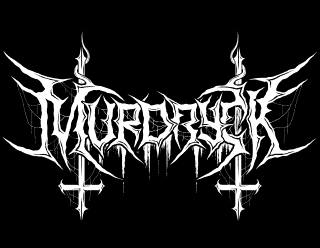Murdryck - Black Metal Logo Drawing with inverted crosses and spiderwebs