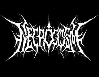 Necrocosm - Brutal Death Metal Band Logo Design with Veins Webs