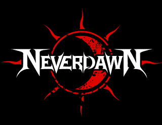 Neverdawn - Classic Heavy Metal Band Logo Design with Sun and Moon Symbol