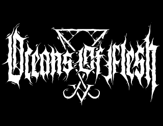 Oceans of Flesh - Occult Black Metal Logo Design with Sigil