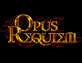 Opus Requiem - Gothic Doom Metal Band Logotype Design, Ornate Gold
