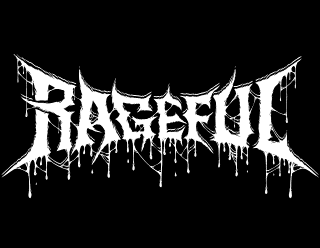 Rageful - Thrash Death Metal Band Logo Design with Dripping Blood