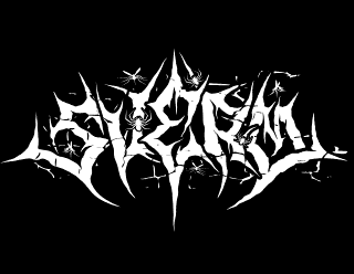 Sverm - Norwegian Punk Black Metal Band Logo Design with insects