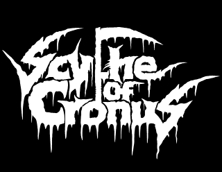 Scythe of Cronus Bold Raw Leaking Band Logo Design