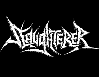 Slaughtrer Thrash Metal Vector Band Logo design with Cracks