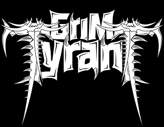 Grim Tyrant - Legible Brutal Heavy Metal Band Logo Design with hooks and blades