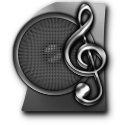 Audio File, Mp3 free Dark Icon with Transparent Background, 256px for Web-Design