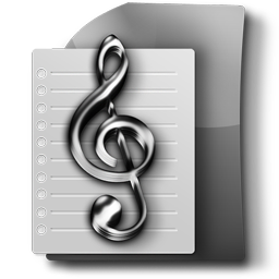 Notes, Tunes, Music Sheet File PNG 256px Transparent Free Stock Icon