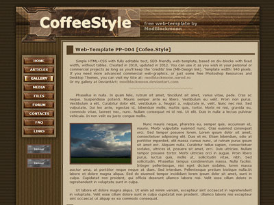 Free Brown Chocolate Sweet Colors CSS HTML Web-Template