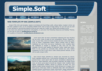 Clean Blue and Grey Tech HTML CSS Template