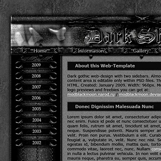 Dark Gothic Web-Template Preview