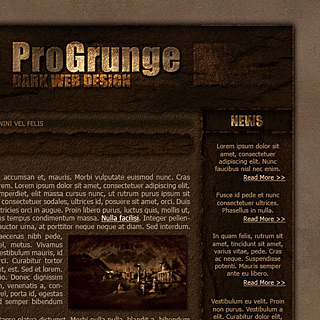 Modern grunge burnt paper webdesign style by ModBlackmoon