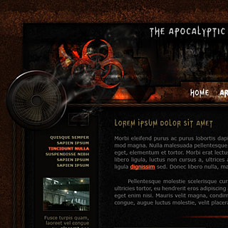 MB Apocalyptic Theme Web-Template