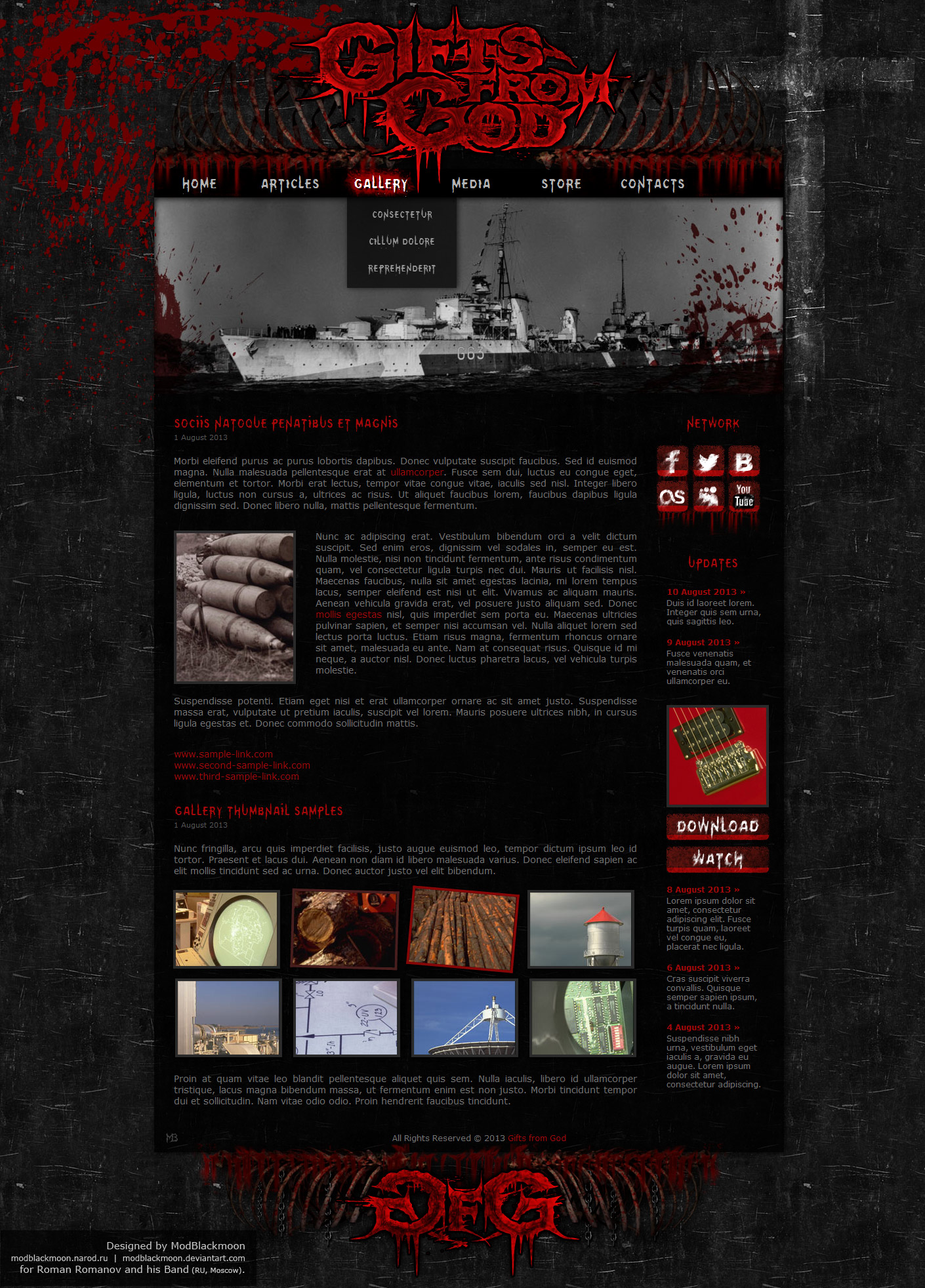 ModBlackmoon | Unique Dark Grunge, Gothic & Horror Web-Design Facebook Like Button Psd
