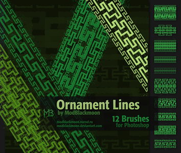 MB-OrnamentLines Brushes for Photoshop with nordic pattern